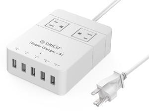 Orico 2-Outlet Power Strip w/ 5 USB Charging Ports