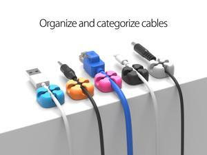 ORICO Cable Winder Wire Organizer Desktop Clips Cord Management Headphone Cord Holder For iPhone Charging Data Line