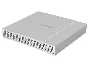 "ORICO USB 3.1 Gen 2 Type-C to SATA3.0 Dual Bay 2.5 inch RAID External Hard Drive Enclosure USB-C Reversible plug with Real 10Gbps Super Speed for 2.5"" SSD/SATA Hard Drives Support RAID 0/RAID 1/JBOD"