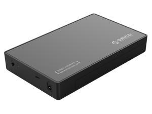 ORICO 3.5 inch USB 3 Type C to SATA External Hard Drive Enclosure Case Toolless 5Gbps SuperSpeed for 2.5/3.5 inch HDD SSD [Support UASP Protocol 8TB Max] - Black - Retail