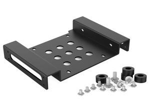 "ORICO  Aluminum 2.5 "" & 3.5 "" SATA or IDE HDD or SSD to 5.25 Bracket 2.5 to 5.25 or 3.5 to 5.25 Hard Drive Bay Converter Mounting Bracket Adapter -Black (AC52535-1S-V1)"