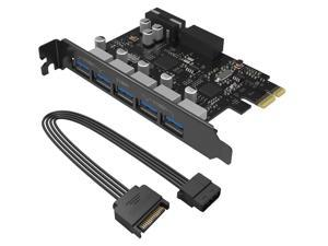 ORICO Monster USB 3.0 PCI - Express Card with 5 Rear USB 3.0 Ports and 1x Internal USB 3.0 20-PIN Connector Controller Adapter Card (PVU3-502I)
