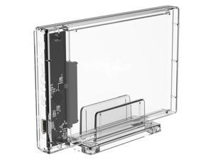 ORICO 4TB Type-C USB 3.1 HDD Enclosure 2.5 inch External Hard Drive Disk Tool Free Enclosure case  for 7mm-9.5mm SATA HDD SSD - Transparent (2159C3)