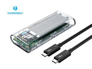 ORICO Thunderbolt 3 40Gbps M.2 NVME SSD Enclosure 2TB Transparent USB C SSD Case with 40Gbps C to C Cable For Mac Windows