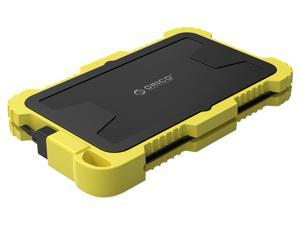 ORICO 2.5in HDD Case SATA to USB 3.0 HDD Enclosure With Integrated Data Cable Support 4TB HDD SSD External Encrypted Portable SSD/HDD Enclosure Yellow