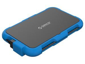 """ORICO 2.5"""" Hard Drive Enclosure USB3.0 External HDD Case 4TB Support UASP and TRIM Waterproof Dustproof Shockproof Silicone Design - Encrypted Portable SSD/HDD Enclosure Blue"""