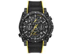 3bafa66eb Bulova 98B312 Precisionist Men's Watch Black/Yellow 46.5mm Black IP  Stainless ...