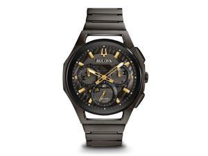 d70dcaaf2 Bulova 98A206 Curv Men's Watch Dark Grey IP ...