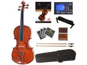 Cecilio 4/4 CVN-200 Solid Wood Violin Package with Case, Accessories and Lesson Book + DVD