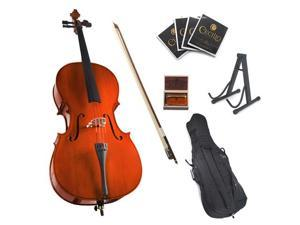 Cecilio 4/4 CCO-100 Student Cello with Soft Case, Bow, Rosin, Bridge, Strings and Cello Stand (Full Size)