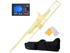 MTB-40 Intermediate B Flat Valve Trombone with Monel Valves + Tuner, Case, Mouthpiece & Accessories