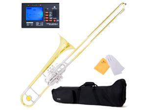 "MTB-43 Intermediate ""Super-Bone"" Slide/ Valve B Flat Trombone w/ Monel Valves + Tuner, Case, Mouthpiece & Accessories"