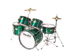 MJDS-5-GN Complete 16-Inch 5-Piece Green Junior Drum Set with Cymbals, Drumsticks and Adjustable Throne