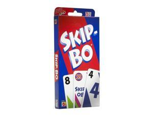 Skip-Bo Fast-Paced Family Fun Card Game Board Game Mattel MTT42050