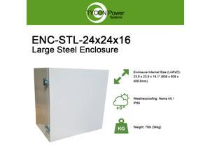 "Tycon Power Systems ENC-STL-24x24x16 Steel Enclosure 24X24X16"" Pole or Wall Mount with Locking Door"