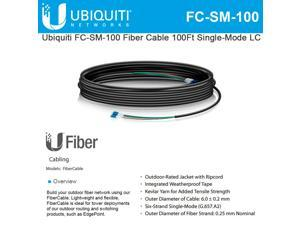Ubiquiti FC-SM-100 Fiber Cable 100Ft Single-Mode LC ideal for installs outdoor