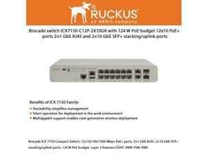 TESTED Brocade FCX624S-F 24-Port 100//1000 Mbps SFP Ethernet Fiber Switch