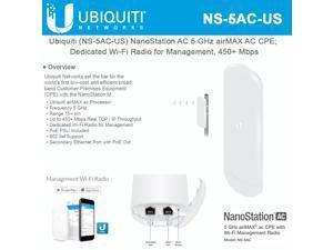 Ubiquiti Networks - NS-5AC - Ubiquiti NanoStation NS-5AC IEEE 802.11ac 450 Mbit/s Wireless Access Point - 5 GHz - MIMO