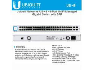 Ubiquiti Networks UniFi Managed Switch US-48 SFP Ports Gigabit RJ45 48 Ports Non-Blocking 70 Gbps