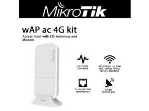 Mikrotik wAP ac 4G kit RBwAPGR-5HacD2HnD&R11e-4G Dual Band 2.4 / 5 GHz Wireless Access Point with LTE Antennas and R11e-4G Modem