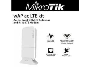 Mikrotik wAP ac LTE kit RBwAPGR-5HacD2HnD&R11e-LTE Dual Band 2.4 / 5 GHz Wireless Access Point with LTE Antennas and R11e-LTE Modem