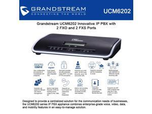Grandstream UCM6202 Innovative IP PBX with 2 FXO and 2 FXS Ports