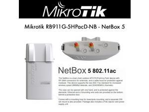 Mikrotik NetBox 5 RB911G-5HPacD-NB 802.11ac 5Ghz Access Point support for up to 540Mbits, waterproof enclosure, high output