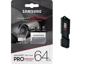 Samsung Pro Endurance 64GB MicroSD HC Memory Card UHS-I for Samsung Galaxy TAB S5e S6 A 8.0 10.1 A10e View2 with USB 3.0 MemoryMarket Dual Slot MicroSD & SD Memory Card Reader