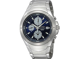 Seiko SND777 Mens  chronograph Blue Dial