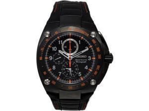 Seiko SNAE37 Black Sportura Quartz Alarm Chronograph Strap