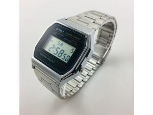 Men's Casio Classic Digital Steel Band Watch A158WA-1