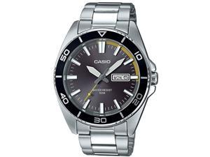 Men's Casio Date Display Stainless Steel Band Watch MTD120D-8AV MTD120D-8A