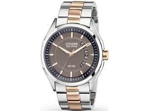Citizen AW1146-55H Drive Two Tone Stainless Steel Case and Bracelet Brown Dial Date Display