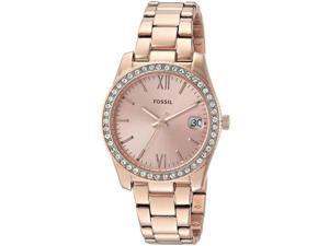Women's Fossil Scarlette Rose Gold Tone Steel Watch ES4318