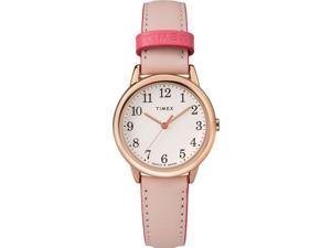 Timex Women's Easy Reader Color Pop 30mm Leather |Pink| Casual Watch TW2R62800