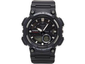 Casio AEQ110W-1BV Black Analog Digital Watch