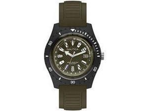 Men's Nautica Ibiza Green Silicone Strap 44mm Watch NAPIBZ009