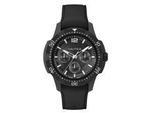 Men's Nautica San Diego Black Silicone Band 46mm Watch NAPSDG001