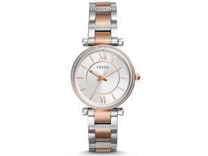 Fossil Women's Carlie Silver Dial Watch - ES4342