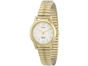 Women's Timex Elevated Elegance Gold Steel Expansion Band Watch T2M827