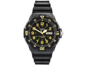 Men's Casio Analog Black Dial Black Band Watch MRW200H-9BV MRW200H-9B