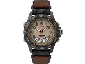Timex Men's Expedition | Chronograph Green Case Brown Strap | Watch T45181