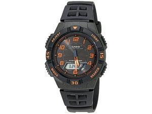 Men's Casio Tough Solar Black And Orange Watch AQS800W-1B2