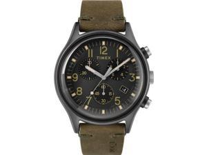 Men's Timex MK1 Chronograph 20mm Leather Band Watch TW2R96600