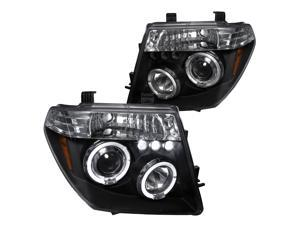 Spec-D Tuning for 2005-2007 Pathfinder 2005-2008 Frontier Projector Headlights Black 2005 2006 2007 2008 (Left+Right)