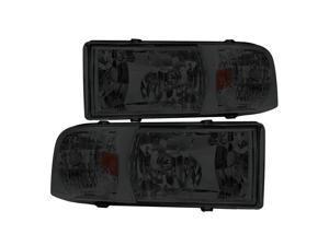 Spec-D Tuning Euro Smoke Lens Headlights for 1994-2001 Dodge Ram Head Light Assembly Left + Right Pair