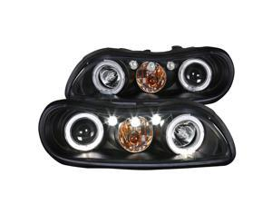 Spec-D Tuning Black Led Headlights for 1997-2003 Chevy Malibu Head Light Assembly Left + Right Pair