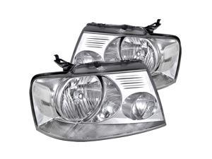 Spec-D Tuning Clear Headlights for 2004-2008 Ford F150 Pickup Truck Head Light Assembly Left + Right Pair