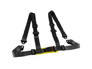 Spec-D Tuning RSB-4PTBLK Racing Seat Belt 4 Point Harness, Black - 4 x 6 x 11 in.