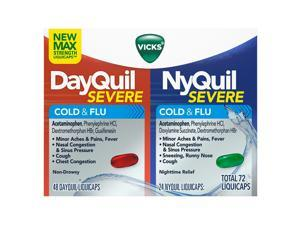 Vicks NyQuil and DayQuil LiquiCaps Combo Pack (72 Count)